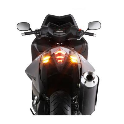 Cache feu et clignotant BCD XT Yamaha 530 Tmax 12-16 noir brillant