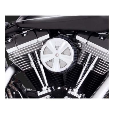 Cache filtre à air naked crown rond Ø 139,7mm (5,5') fixation vis centrale Harley Davidson chrome