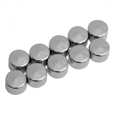 Caches boulons Drag Specialties Ø 1/4'' Allen 3/16'' lot x10 chrome
