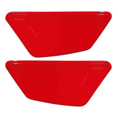 Caches plaques latéraux rouges origine Fantic Trial 125 1°série