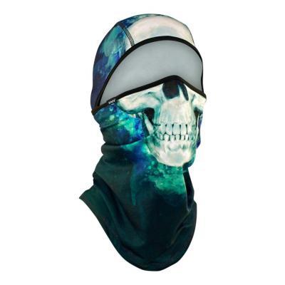 Cagoule convertible Zan Headgear Sportflex™ Paint skull vert/bleu