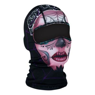 Cagoule hublot Zan Headgear Sugar skull rose