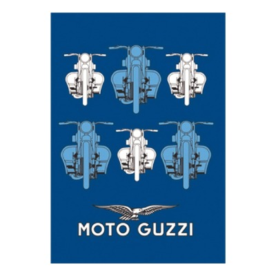 Calepin Moto Guzzi bleu