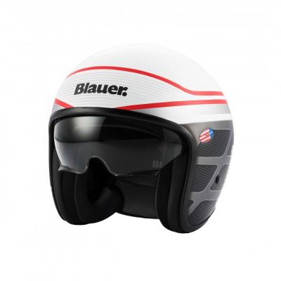 Casque Blauer Pilot 1.1 Graphic B Blanc Brillant/Rouge