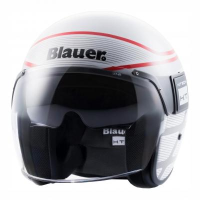 Casque Blauer POD Graphic B Blanc Brillant/Rouge