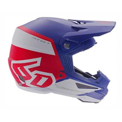 Casque cross 6D ATR-1 Flight rouge/blanc/bleu