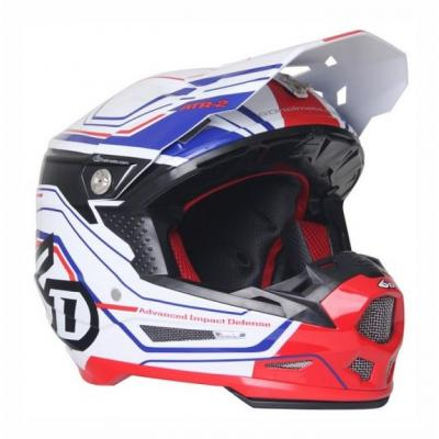 Casque cross 6D ATR-2 Circuit blanc