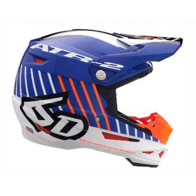 Casque cross 6D ATR-2 Motion orange/bleu