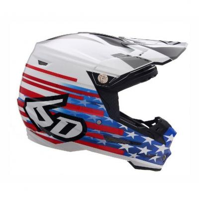 Casque cross 6D ATR-2 Patriot rouge/blanc/bleu