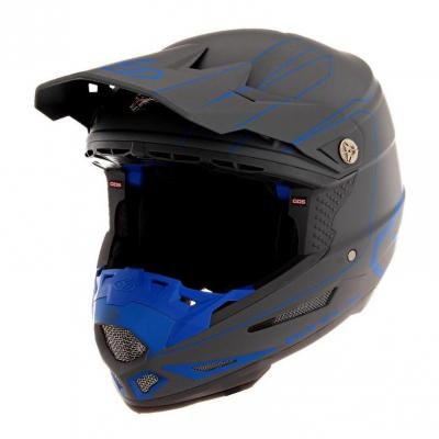 Casque cross 6D ATR-2 Recon gris/bleu mat