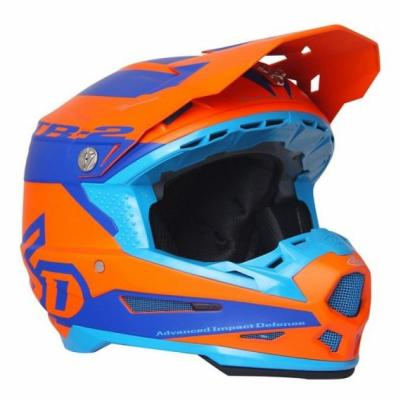 Casque cross 6D ATR-2 Sector orange/bleu