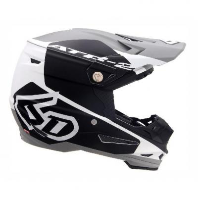 Casque cross 6D ATR-2 Shadow noir/blanc