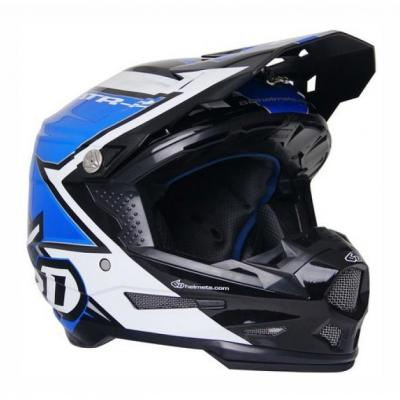 Casque cross 6D ATR-2 Strike bleu/blanc