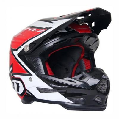 Casque cross 6D ATR-2 Strike rouge