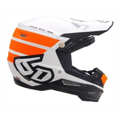 Casque cross 6D ATR-2 Stripe orange/blanc