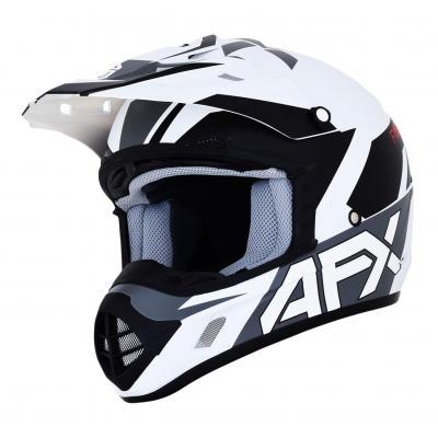 Casque cross AFX FX-17 blanc/noir mat