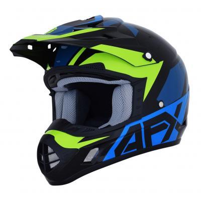 Casque cross AFX FX-17 noir/bleu/vert