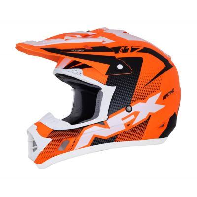 Casque cross AFX FX17 HOLESHOT orange/noir/blanc mat