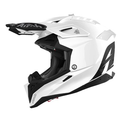 Casque cross Airoh Aviator 3 Color blanc brillant