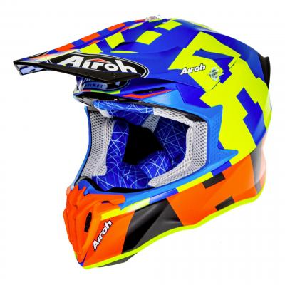 Casque cross Airoh Twist 2.0 Frame azure mat