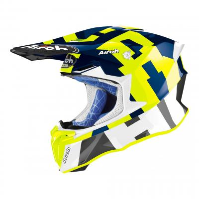 Casque cross Airoh Twist 2.0 Frame bleu brillant