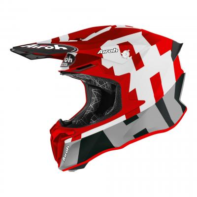 Casque cross Airoh Twist 2.0 Frame rouge mat