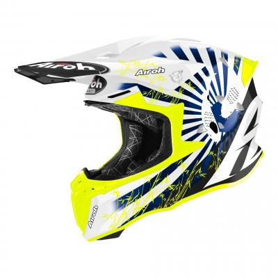 Casque cross Airoh Twist 2.0 Katana bleu brilant
