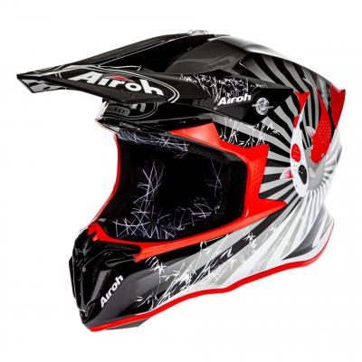 Casque cross Airoh Twist 2.0 Katana rouge brillant