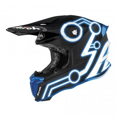 Casque cross Airoh Twist 2.0 Neon bleu mat
