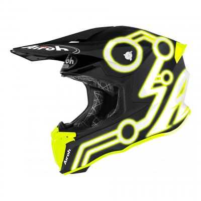 Casque cross Airoh Twist 2.0 Neon jaune mat