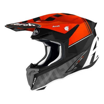 Casque cross Airoh Twist 2.0 Tech rouge/noir/gris brillant