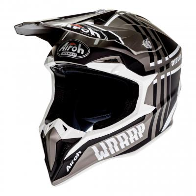 Casque cross Airoh Wraap Broken anthracite mat