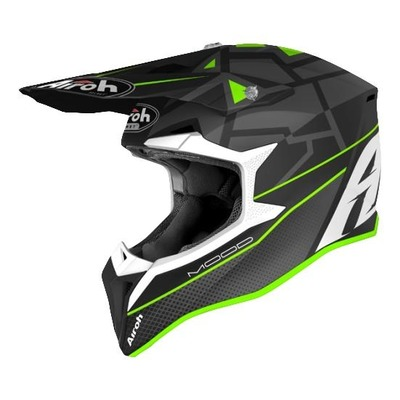 Casque cross Airoh Wraap Mood vert/gris/blanc mat