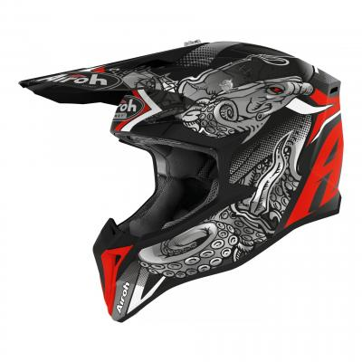 Casque cross Airoh Wraap Octopus mat