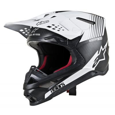 Casque cross Alpinestars Supertech S-M10 Dyno noir/mat/carbone/blanc