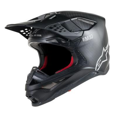 Casque cross Alpinestars Supertech S-M10 Solid noir mat/carbone