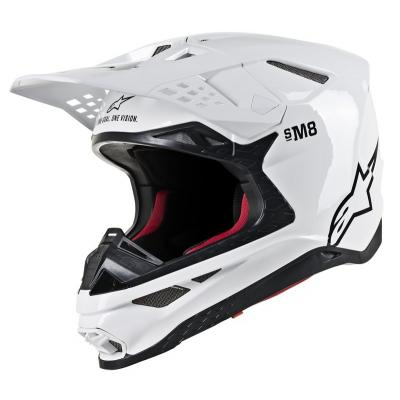 Casque cross Alpinestars Supertech S-M8 blanc brillant