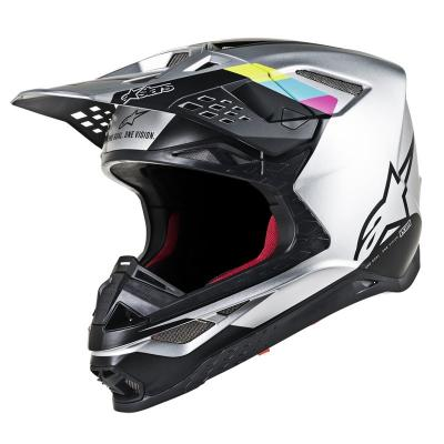 Casque cross Alpinestars Supertech S-M8 Contact argent/noir