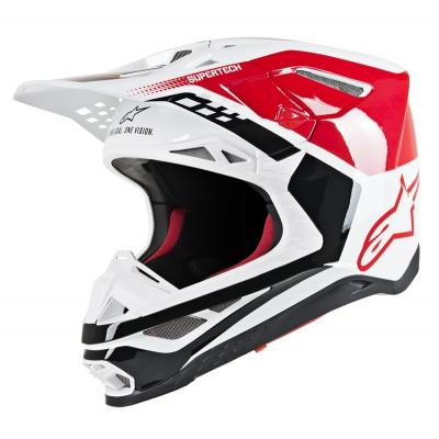 Casque cross Alpinestars Supertech S-M8 Tripple rouge/noir/blanc