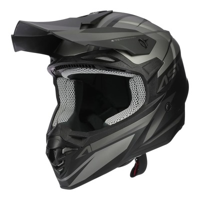 Casque cross Astone MX800 Racers noir/gris mat