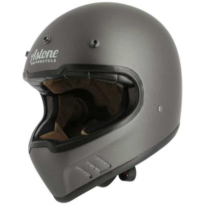 Casque Cross Astone SUPER RETRO mat gris