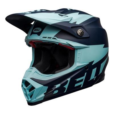 Casque cross Bell Moto-9 Flex Breakaway Mat navy/bleu clair