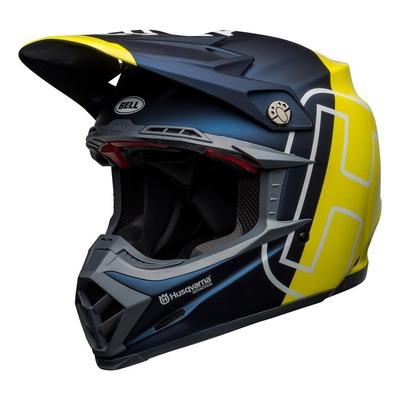 Casque cross Bell Moto-9 Flex Husqvarna Gotland mat/brillant bleu/jaune