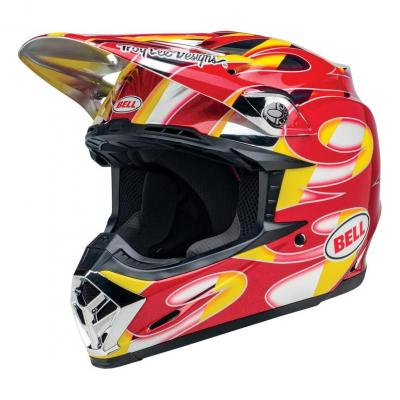 Casque cross Bell Moto 9 Mips McGrath Replica brillant rouge/jaune/chrome