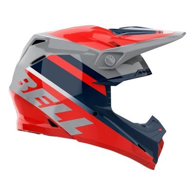 Casque cross Bell Moto-9 Mips Prophecy Brillant rouge/bleu/gris