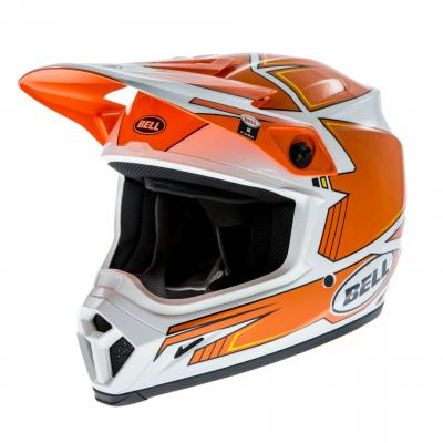 Casque cross Bell MX 9 Blockade orange