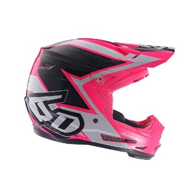 Casque cross enfant 6D ATR-2Y Strike rose/blanc