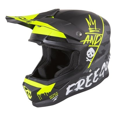 Casque cross enfant Freegun Camo jaune fluo