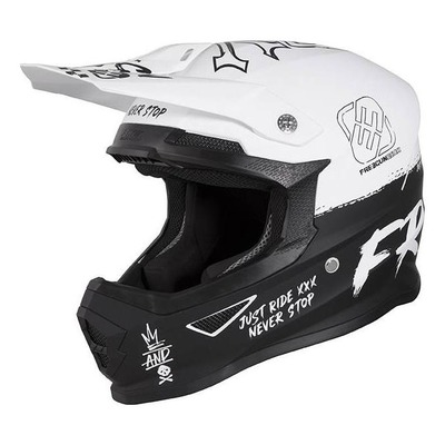 Casque cross enfant Freegun Speed mat blanc