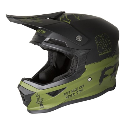 Casque cross enfant Freegun Speed mat kaki